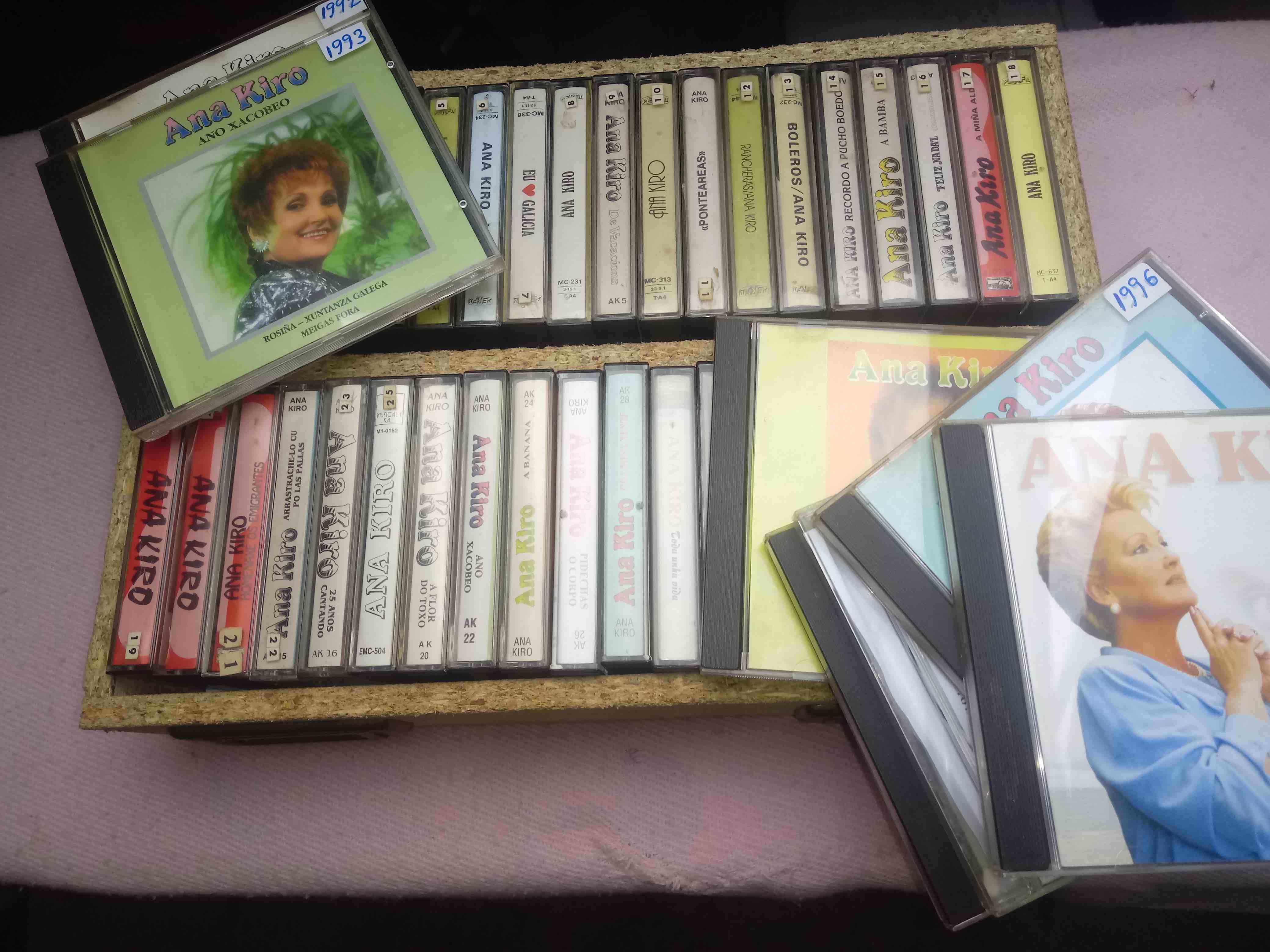 Colección de discos de Ana Kiro