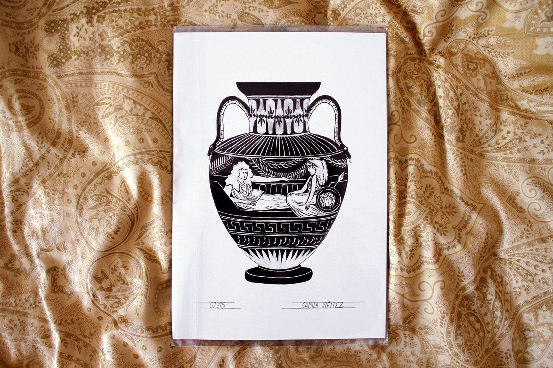 Ilustración para o cartel das xornadas de autoedición e feminismo de Lugo