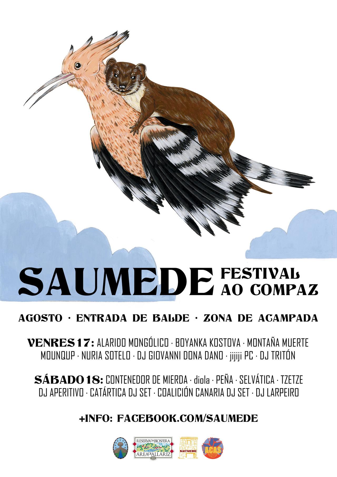 Cartel para o festival de Saumede - Camila Viéitez