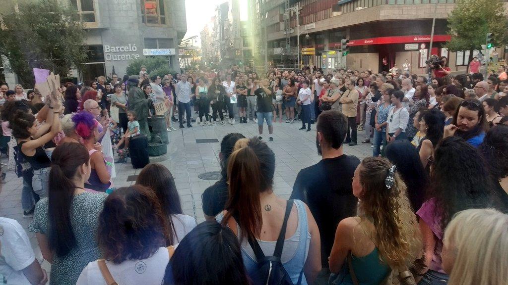 Mobilización feminista en Ourense contra os asasinatos de Valga, o 19 de setembro de 2019