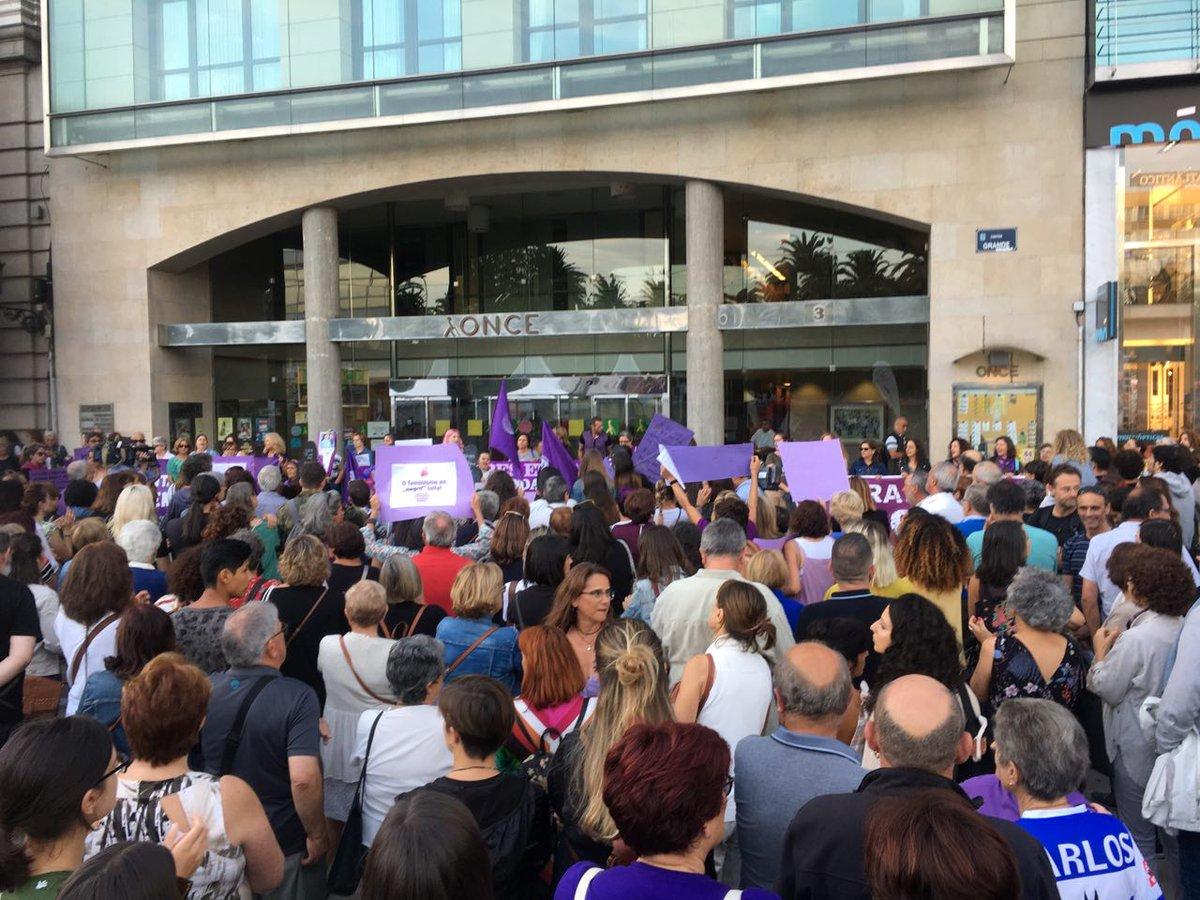 Mobilización feminista na Coruña contra os asasinatos de Valga, o 19 de setembro de 2019