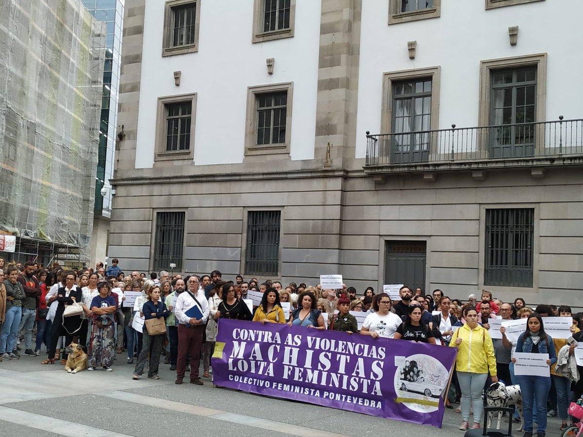 Mobilización feminista en Pontevedra contra os asasinatos de Valga, o 19 de setembro de 2019
