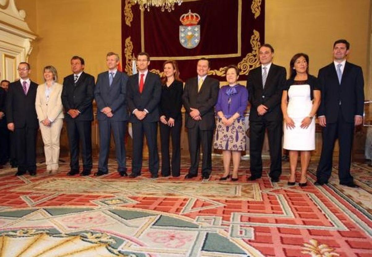 Primeiro goberno nomeado por Feijóo en 2009